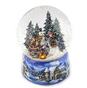 Light-Up Christmas Musical Snow Globes