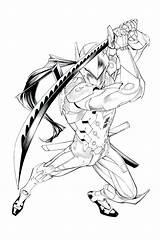 Genji Overwatch Coloring Pages Hanzo Tattoo Drawings Widowmaker Easy Shimada Sheets Drawing Mike Miller Illustration Cyborg Ninja Fan Fanart Lucio sketch template