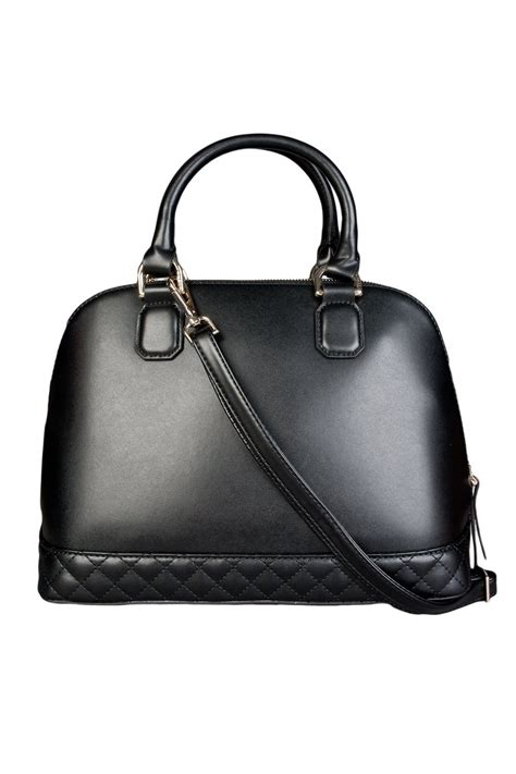 guess faux leather hand bag  black  brown hwamyp