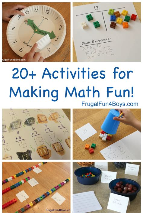 Hands On Math Activities For Making Elementary Math Fun!  Frugal Fun For Boys And Girls