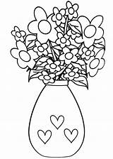 Vase Coloring Pages sketch template