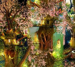 Beautiful Tree House Fantasy Fairy Tale Images Pictures HD