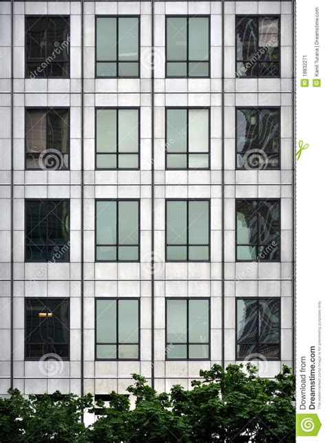 Moderne Fenster Fassade by Steel And Glass Modern Window Facade Stock Image Image