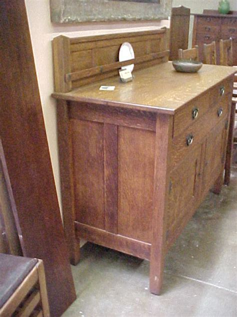 voorhees craftsman mission oak furniture stickley brothers buffet