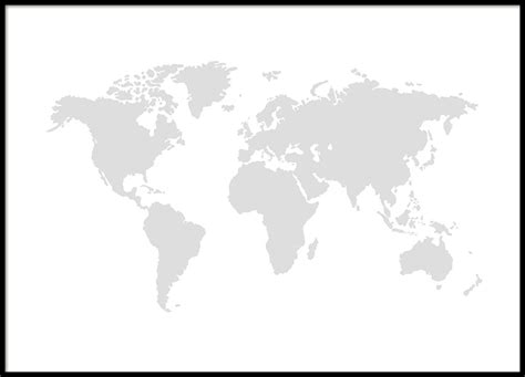 Black and white world map easy to read gumiabroncs Choice Image