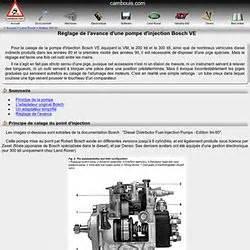 Reglage Pompe Injection Bosch : moteur fiches techniques pearltrees ~ Gottalentnigeria.com Avis de Voitures