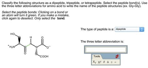 solved classify the following structure as a dipeptide t