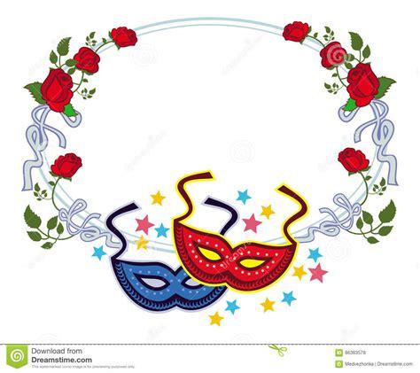 clipart carnevale struttura di colore con le maschere e le rosse di