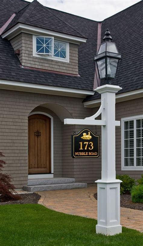 house number sign for l post l post with sign love the house too but if i had this