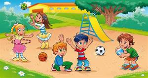 Playground clipart school fun - Pencil and in color ...