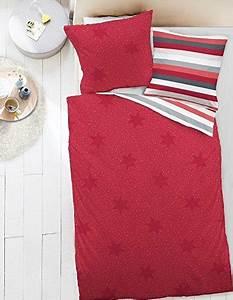 Bettwäsche Biber Sterne : kuschelige bettw sche aus biber sterne rot 135x200 von dormisette bettw sche ~ Frokenaadalensverden.com Haus und Dekorationen