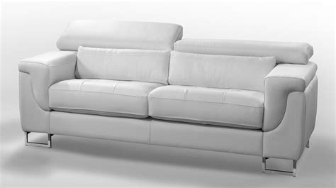 canape cuir chez but canape design 2 places cuir blanc