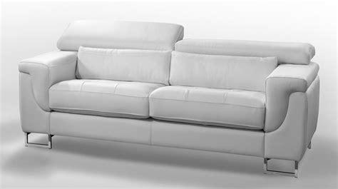 canape cuir blanc design canape design 2 places cuir blanc