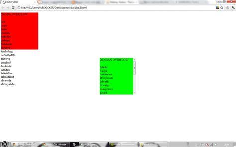 Div Overflow Auto by Corat Coret Anak Biasa Menambahkan Scroll Di Layer Div