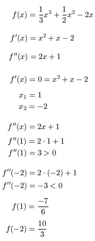 extremstelle berechnen