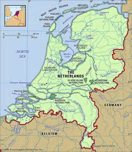 Amsterdam Map and Surrounding Countries