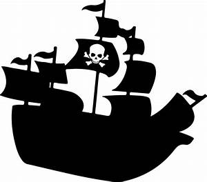 Clipart - Pirate Ship Silhouette