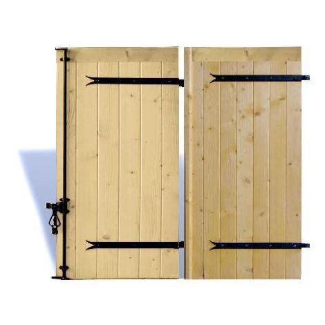 volet battant bois sur mesure avec pentures et contre pentures plusieurs dimensions