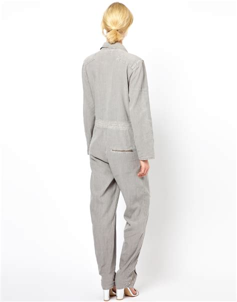 grey jumpsuit womens lyst m i h mih jumpsuit in gray