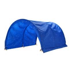 ikea kura baby children bed canopy tent blue white play toys new ebay