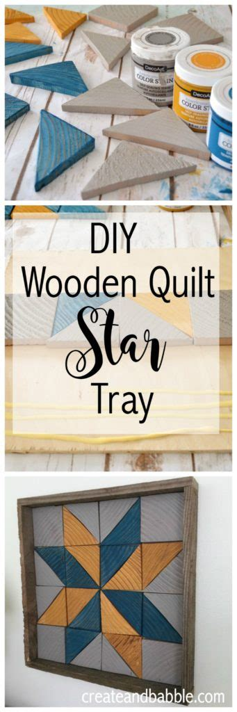 diy wooden quilt square tray create  babble