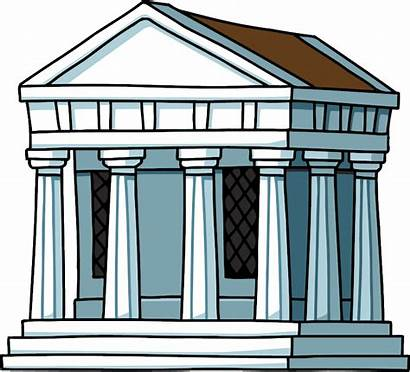 Greek Temple Ancient Greece Clipart Building Architecture