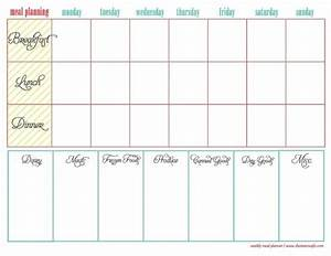weekly meal planner template breakfast lunch dinner With breakfast lunch and dinner menu template