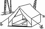 Tent Camping Coloring Drawing Wecoloringpage Clip Template Snoopy Getdrawings Sketch Printable Cartoon Visit Activity sketch template