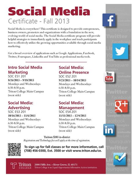 social media certificate programs 17 best images about degree certificate programs on