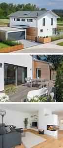 Häuser Im Landhausstil : modernes einfamilienhaus mit garage holz fassade satteldach architektur im landhausstil ~ Yasmunasinghe.com Haus und Dekorationen