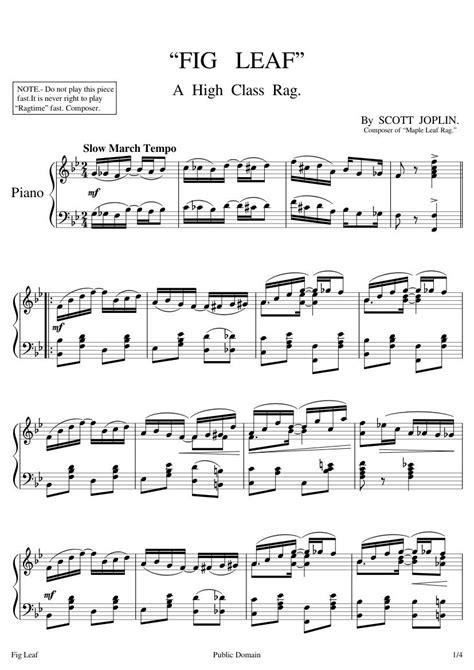 It is one of the most famous of all ragtime pieces.as a result joplin was called the king of ragtime. Maple Leaf Rag Piano Sheet Music Free - Best Music Sheet