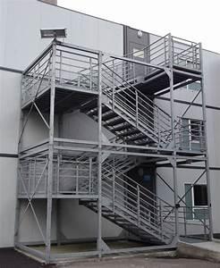 escalier cage ou cube metallique pour erp et exterieur With cage d escalier exterieur