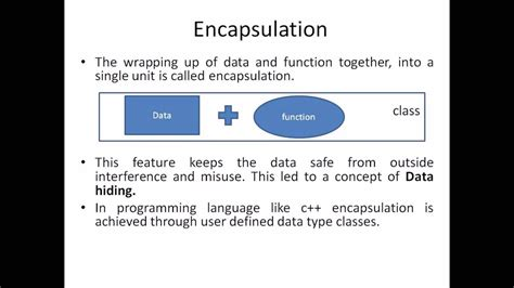 When talking about encapsulation, private class members are often mentioned, and that is… Object Oriented Programming - Encapsulation & data hiding ...