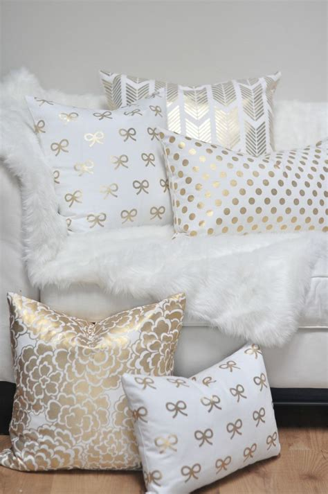 white and gold decorative pillows the great debate a white couch our humble aboden 1777