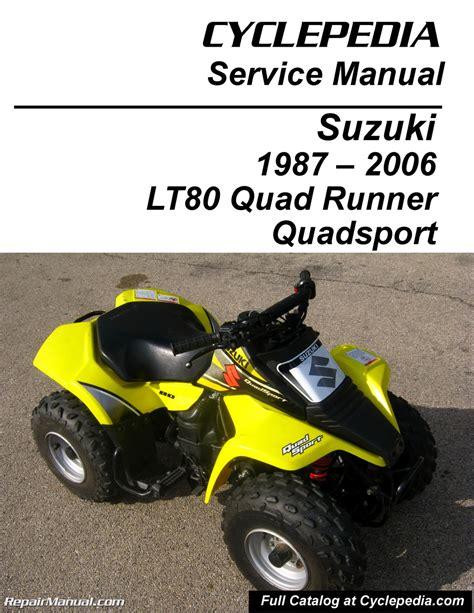 Suzuki Quadsport 80 Parts by Suzuki Lt80 Quadsport Kawasaki Kfx80 Cyclepedia Printed