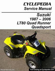 Suzuki Lt80 Quadsport  Kawasaki Kfx80 Cyclepedia Printed Service Manual