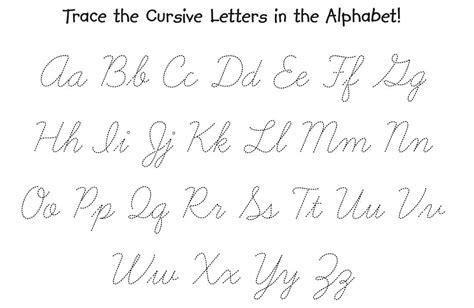cursive alphabet tracing worksheets az  printable db