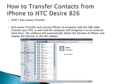 how to transfer contacts from iphone how to transfer contacts from iphone to htc desire 826