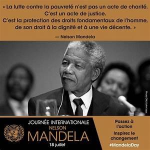 Journ U00e9e Internationale Nelson Mandela  Le 18 Juillet  Pour