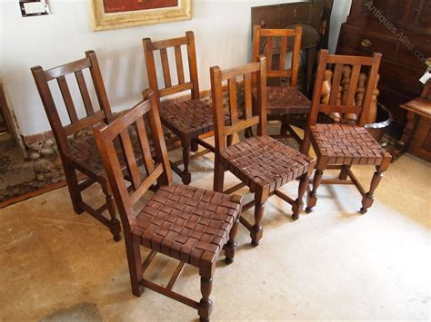 cloverleaf home interiors chairs arts and crafts oak and leather c1910 antiques atlas