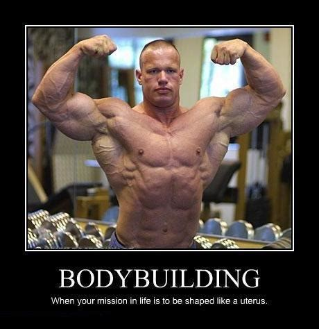 Bodybuilder Meme - laughing vault funny pictures when your mission in life is to be shaped like a uterus