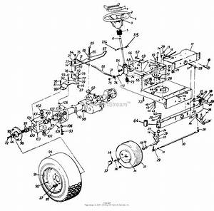 Mtd 134r619g205  1994  Parts Diagram For Axle  Front  Wheels  Front  Wheels  Rear  Steering
