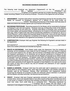 Producer manager contract musiccontracts com music vol 1 for Record label contracts templates