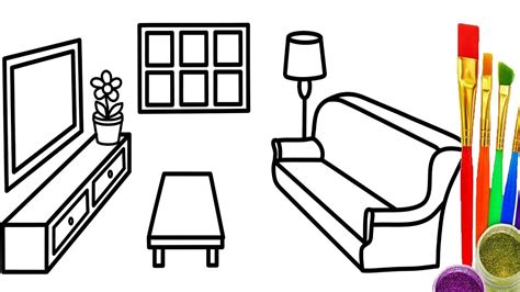 How To Draw Living Room Furniture