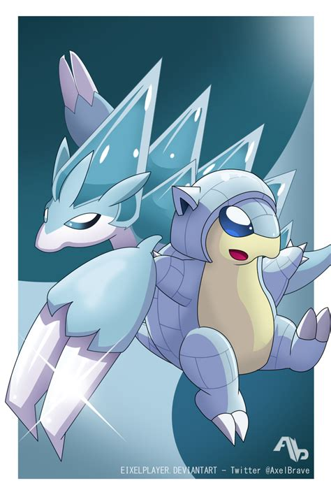 Ice Sandshrew And Ice Sandslash Alola Forms By