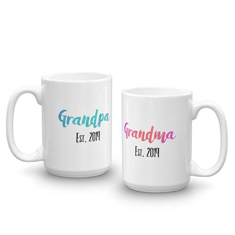 Some pregnant women are prone to depression. Pregnancy Announcement for Grandparents Mugs Set 2019 - Soul'n'Passions
