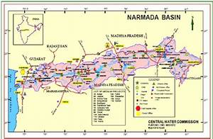 Map Showing Narmada River Basin Catchment