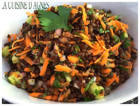 lentilles cuisine salade de lentilles beluga la cuisine d 39 agnèsla cuisine