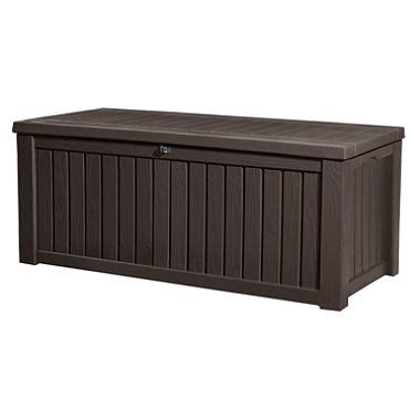 Sams Club Pool Deck Box by Keter Rockwood Outdoor Plastic Deck Storage Container Box