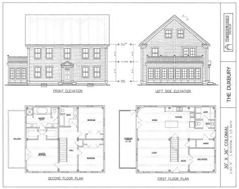 house plans colonial post beam house plans and timber frame drawing packages